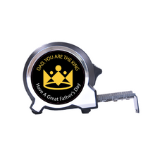 Load image into Gallery viewer, Personalised Black Edition Tape Measure 5m-16ft - You Are The King
