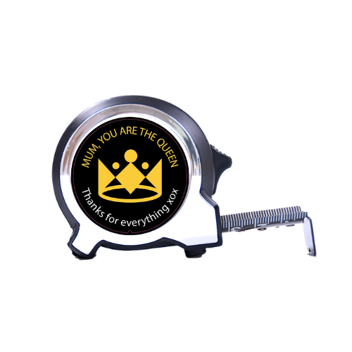 Personalised Black Edition Tape Measure 5m-16ft  - You Are The Queen