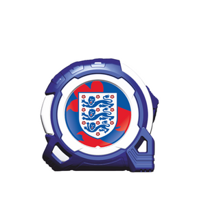 Official Licensed England Football 2020 5m/16ft x 25mm Professional Tape Measure - Blue