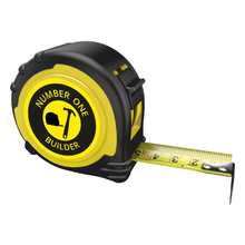Load image into Gallery viewer, Personalised Professional Tape Measure Gift Idea - 5m/16ft - No1 Builder