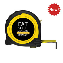 Load image into Gallery viewer, Personalised Professional 5m/16ft Tape Measure Gift Idea - Eat Sleep Measure