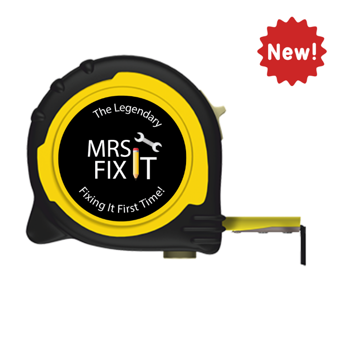 Personalised Professional 5m/16ft Tape Measure Gift Idea - Mrs Fix It