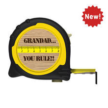 Load image into Gallery viewer, Personalised Professional 5m/16ft Tape Measure Gift Idea - Grandad You Rule