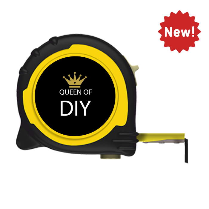 Personalised Professional 5m/16ft Tape Measure Gift - Queen of DIY