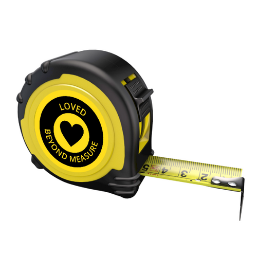 Personalised Professional Tape Measure Gift - 5m/16ft - Loved Beyond Measure