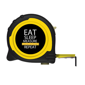 Personalised Professional 5m/16ft Tape Measure Gift Idea - Eat Sleep Measure