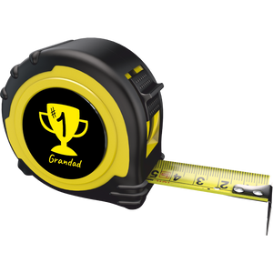 Personalised Professional 5m/16ft Tape Measure Gift - No1 Grandad
