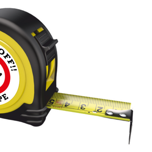 Personalised Professional Tape Measure Gift - 5m/16ft - Hands Off Mum
