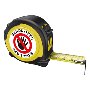 Personalised Professional Tape Measure Gift - 5m/16ft - Hands Off Dad