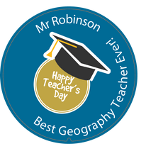 Load image into Gallery viewer, Personalised Dual Printed 5m-16ft Chrome Tape Measure - Happy Teachers Day