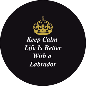 Personalised Dual Printed 5m-16ft Chrome Tape Measure - Keep Calm Life Is Better With A Labrador