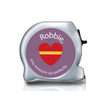 Load image into Gallery viewer, Personalised Dual Printed 5m-16ft Chrome Tape Measure - You Measure Up