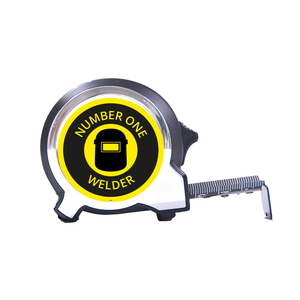 Personalised Black Edition 5m-16ft x 25mm Tape Measure - No1 Welder