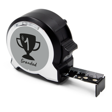 Load image into Gallery viewer, Personalised Black Edition 5m-16ft x 25mm Tape Measure - No1 Grandad