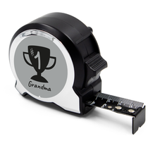 Load image into Gallery viewer, Personalised Black Edition 5m-16ft x 25mm Tape Measure - No1 Grandma
