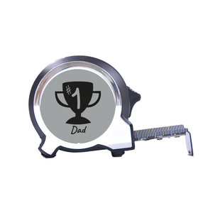 Personalised Black Edition 5m-16ft x 25mm Tape Measure - No1 Dad