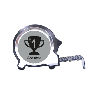 Personalised Black Edition 5m-16ft x 25mm Tape Measure - No1 Grandma