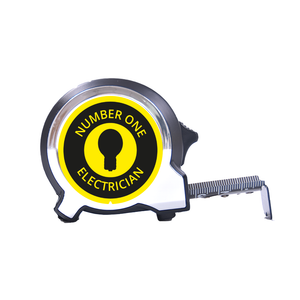 Personalised Black Edition 5m-16ft x 25mm Tape Measure - No1 Electrician