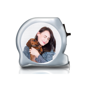 Personalised Dual Printed 5m-16ft Chrome Photo Tape Measure -  Tape Your Pet