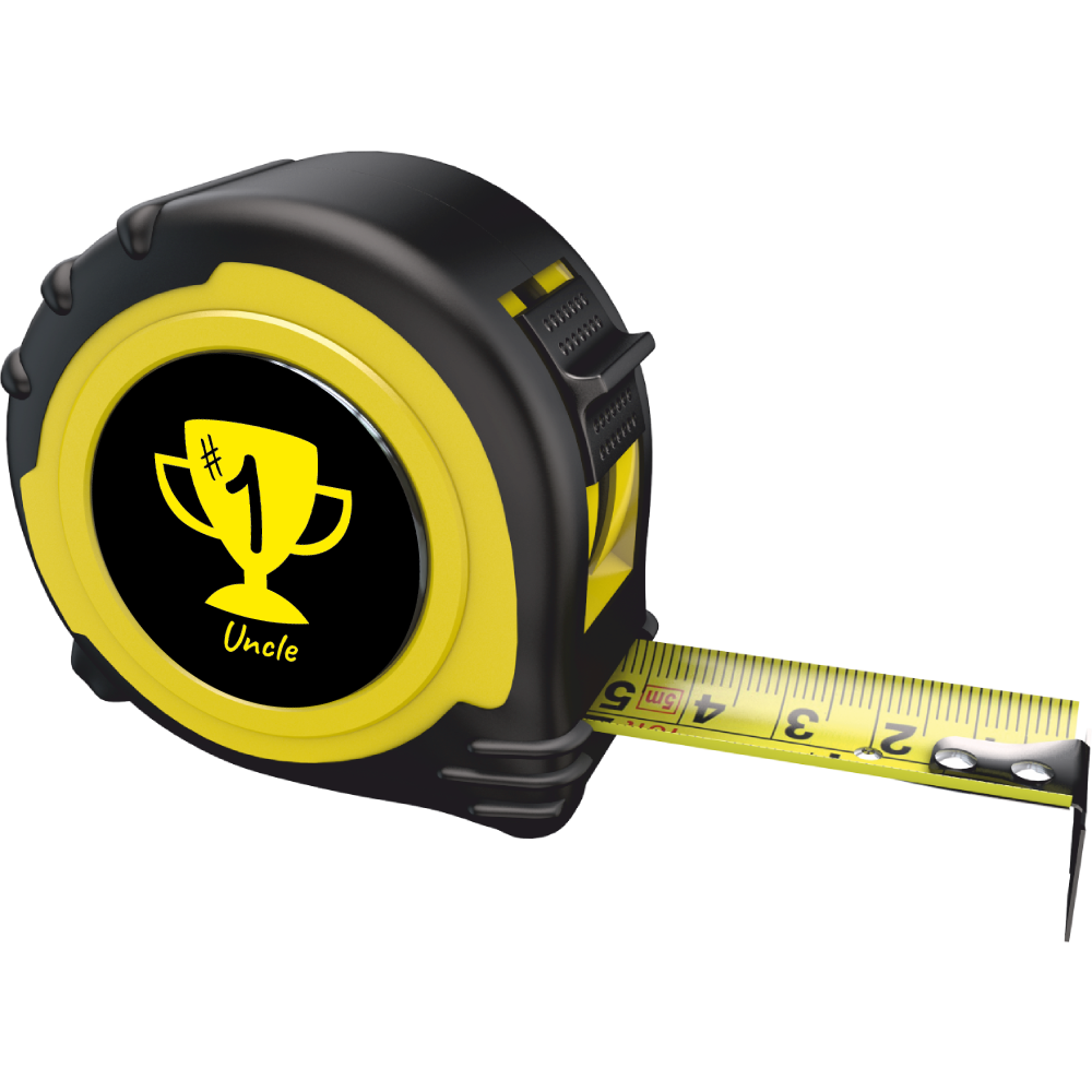 Personalised Professional 5m/16ft Tape Measure Gift - No1 Uncle