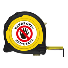Load image into Gallery viewer, Personalised Professional Tape Measure Gift - 5m/16ft - Hands Off Dad
