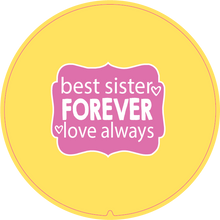 Load image into Gallery viewer, Personalised Dual Printed 5m-16ft Chrome Tape Measure - Best Sisters Forever