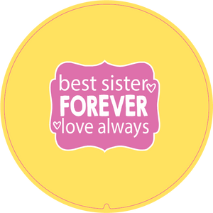 Personalised Dual Printed 5m-16ft Chrome Tape Measure - Best Sisters Forever