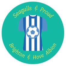 Load image into Gallery viewer, football themed gift ideas, football gifts, personalised football gifts, personalised football team themed presents, funky tape measure, personalised tape measure, personalised gift ideas, gifts for football fans, football themed gifts, Brighton & Hove