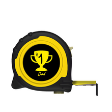 Load image into Gallery viewer, Personalised Professional 5m/16ft Tape Measure Gift - No1 Dad
