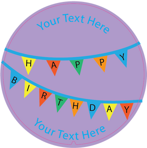 Personalised Dual Printed 5m-16ft Chrome Tape Measure - Birthday Banner