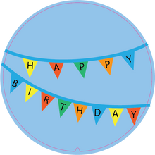 Load image into Gallery viewer, Personalised Dual Printed 5m-16ft Chrome Tape Measure - Birthday Banner