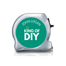 Load image into Gallery viewer, Personalised Dual Printed 5m-16ft Chrome Tape Measure -  King of DIY