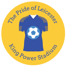 Load image into Gallery viewer, football themed gift ideas, football gifts, personalised football gifts, personalised football team themed presents, funky tape measure, personalised tape measure, personalised gift ideas, gifts for football fans, football themed gifts, Leicester fc