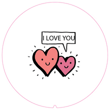 Load image into Gallery viewer, Personalised Dual Printed 5m-16ft Chrome Tape Measure - I Love You Hearts