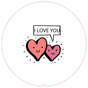 Personalised Dual Printed 5m-16ft Chrome Tape Measure - I Love You Hearts