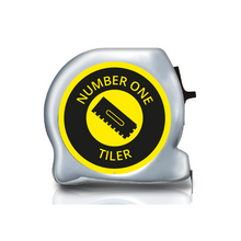 Load image into Gallery viewer, Personalised Dual Printed 5m-16ft Chrome Tape Measure - No1 Tradesman Collection