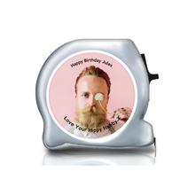 Load image into Gallery viewer, Personalised Dual Printed 5m-16ft Chrome Photo Tape Measure -  Tape Yourselfie