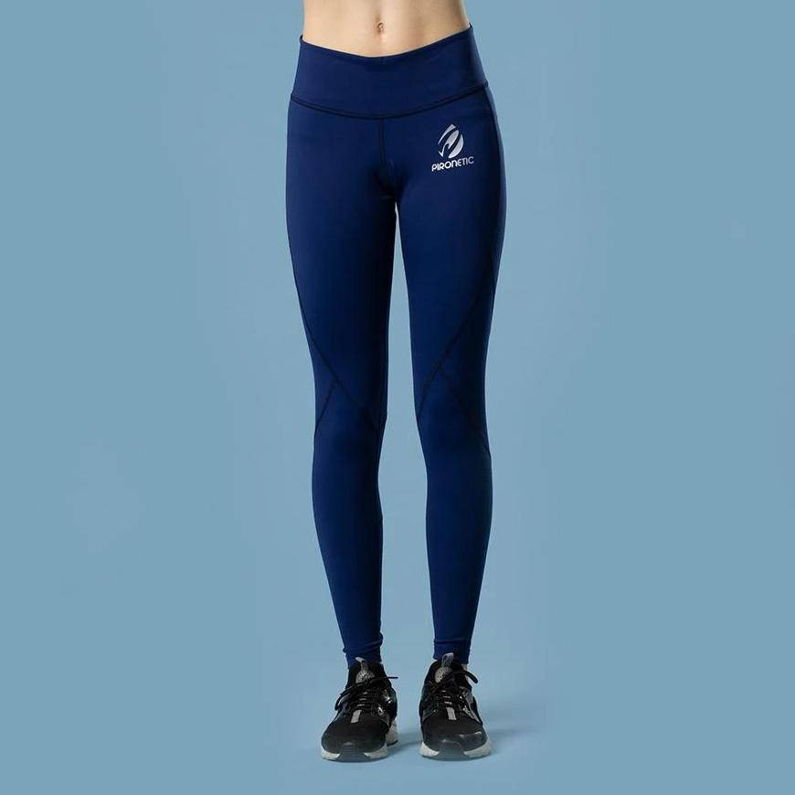 Explosive True Blue Tights | pironetic.com | Pironetic - an athleisure brand for active women | sportswear, activewear - leggings, wedges, tights, pants, jackets, t-shirts, tops, tanks, sports bras
