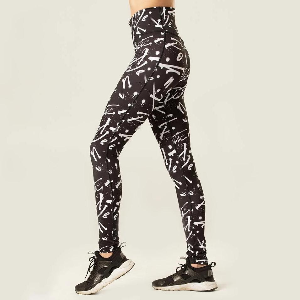 Monochrome High Waist Tights | pironetic.com | Pironetic - an athleisure brand for active women | sportswear, activewear - leggings, wedges, tights, pants, jackets, t-shirts, tops, tanks, sports bras