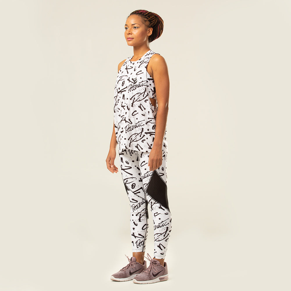 Monochrome Tank | pironetic.com | Pironetic - an athleisure brand for active women | sportswear, activewear - leggings, wedges, tights, pants, jackets, t-shirts, tops, tanks, sports bras