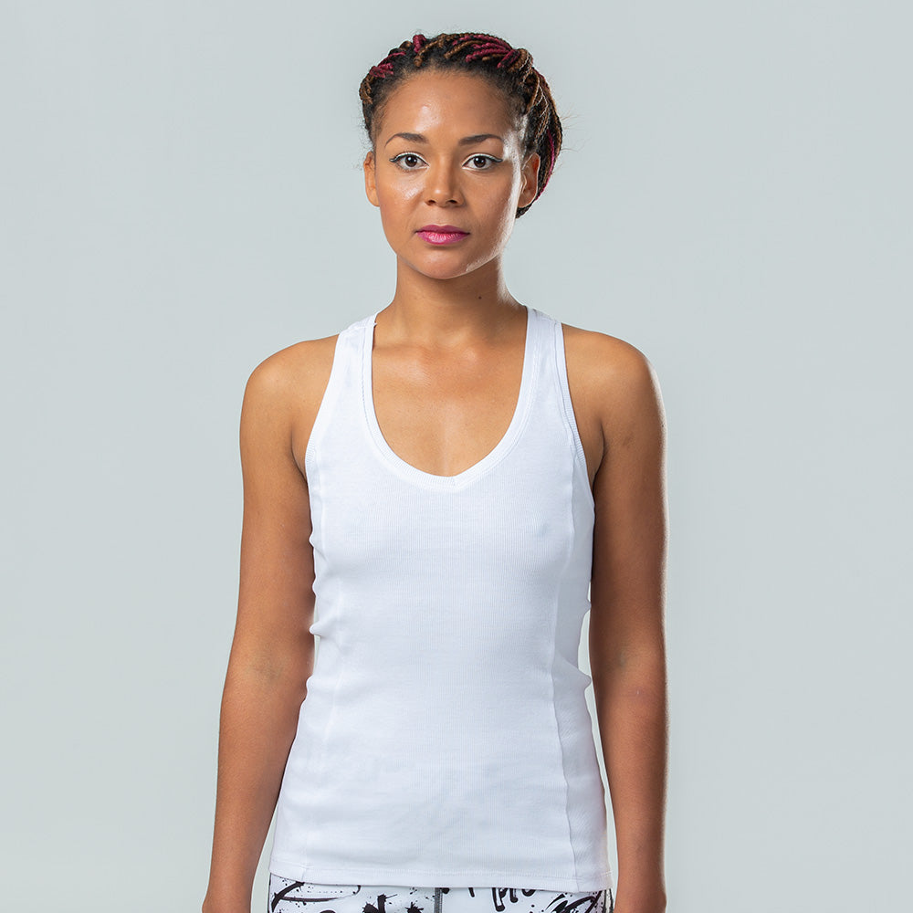 Valentina V-Neck Ribbed Tank | pironetic.com | Pironetic - an athleisure brand for active women | sportswear, activewear - leggings, wedges, tights, pants, jackets, t-shirts, tops, tanks, sports bras