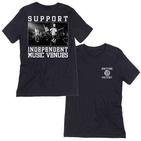 support independent music venues t-shirt black