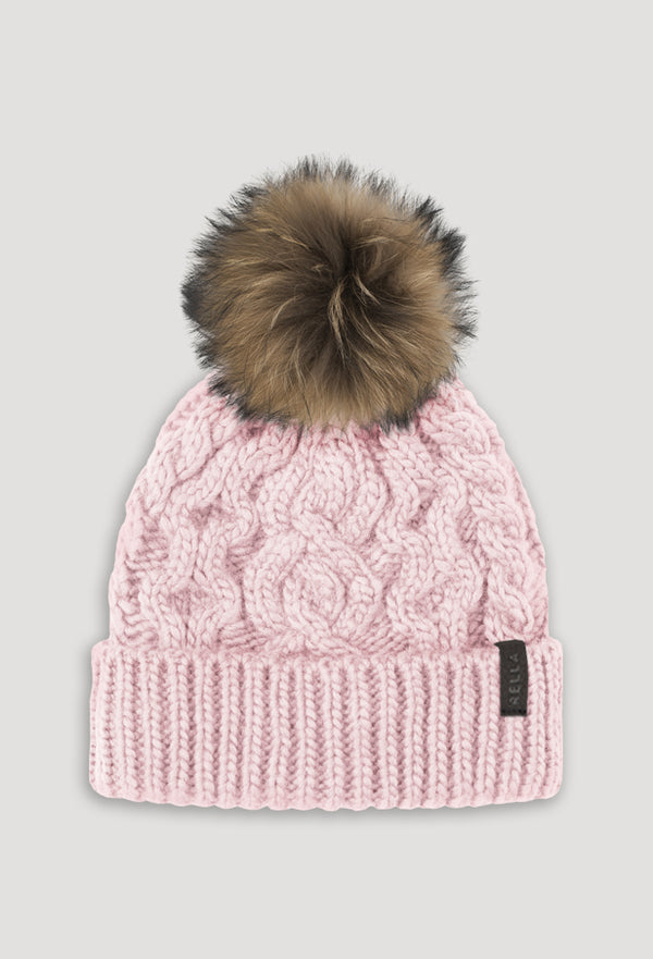 HIGH RISE CUFFED FUR POM BEANIE