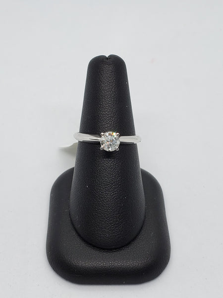 14K WHITE GOLD 0.61CT STARLIGHT DIAMOND ENGAGEMENT RING