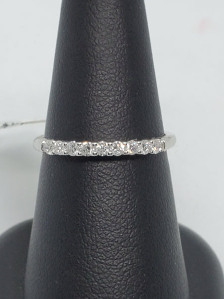 14K WHITE GOLD 0.24CTW STARLIGHT DIAMOND ANNIVERSARY BAND