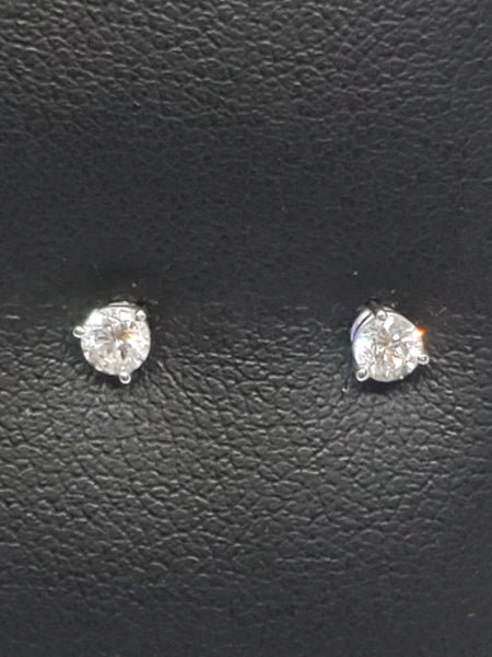 14K WHITE GOLD 0.26CTW STARLIGHT DIAMOND STUD