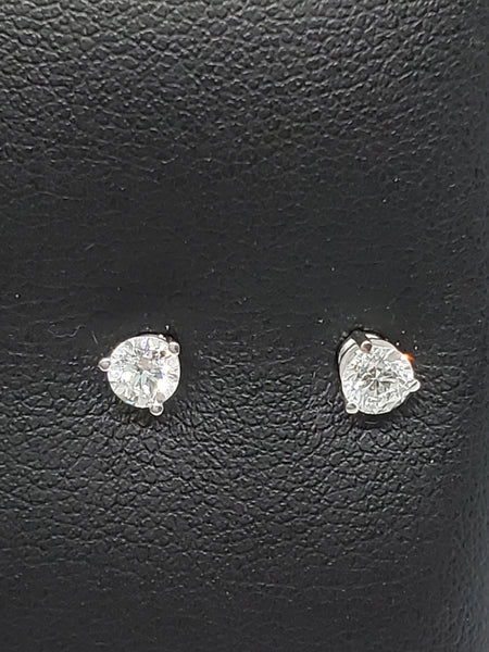 14K WHITE GOLD 0.50CTW STARLIGHT DIAMOND STUDS