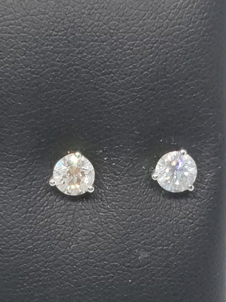 14K WHITE GOLD 1.00CTW STARLIGHT DIAMOND STUDS
