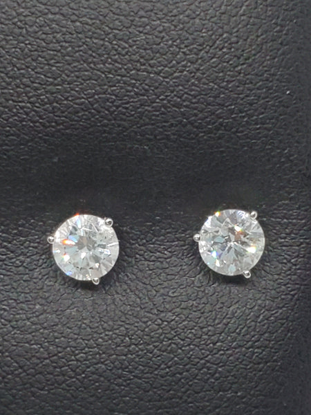 14K WHITE GOLD 1.17CTW STARLIGHT DIAMOND STUDS
