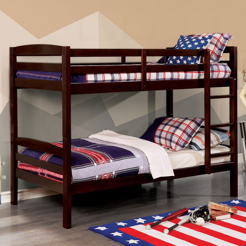 Elaine Wire-Brushed Warm Gray Twin/Twin Bunk Bed image